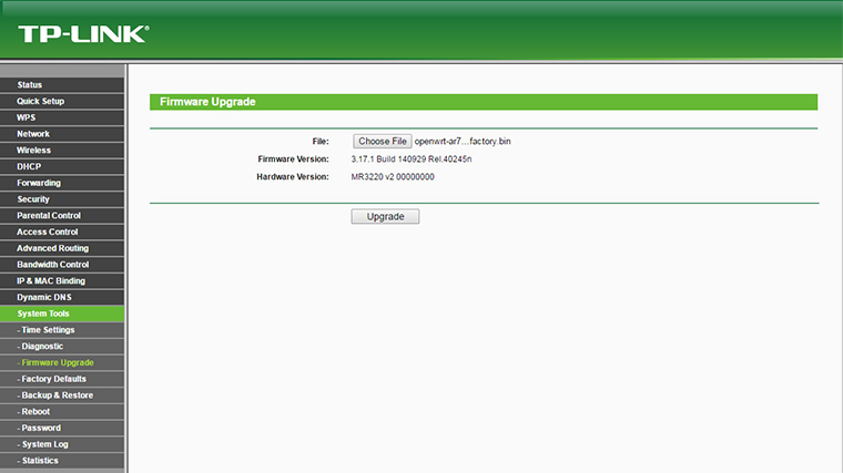 OpenWRT Firmware upgrade 2