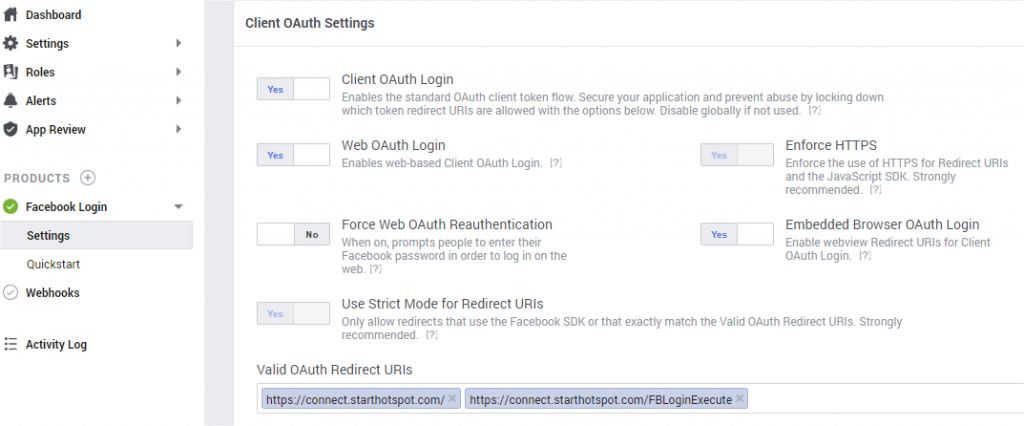 Facebook API I Start Hotspot Cloud WiFi software