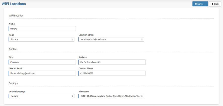 Create and manage WiFi locations I Start Hotspot Cloud WiFi