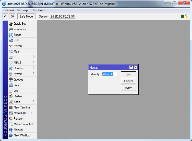 Mikrotik Manual Setup5